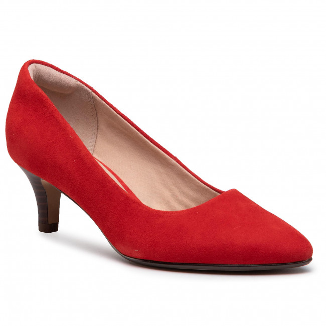 Poltopánky CLARKS - Linvale Jerica 261467874  Red Suede