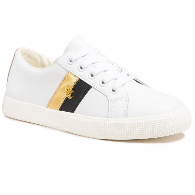 Sneakersy LAUREN RALPH LAUREN - Janson II Sk Vlc 802828027002  Wht/Blk/Gd