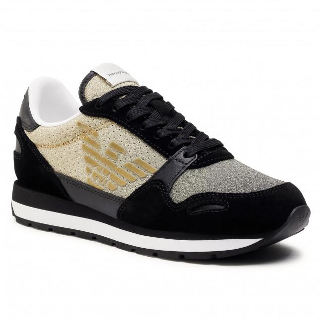 Sneakersy EMPORIO ARMANI - X3X058 XM684 R448 Black/Gold/Black