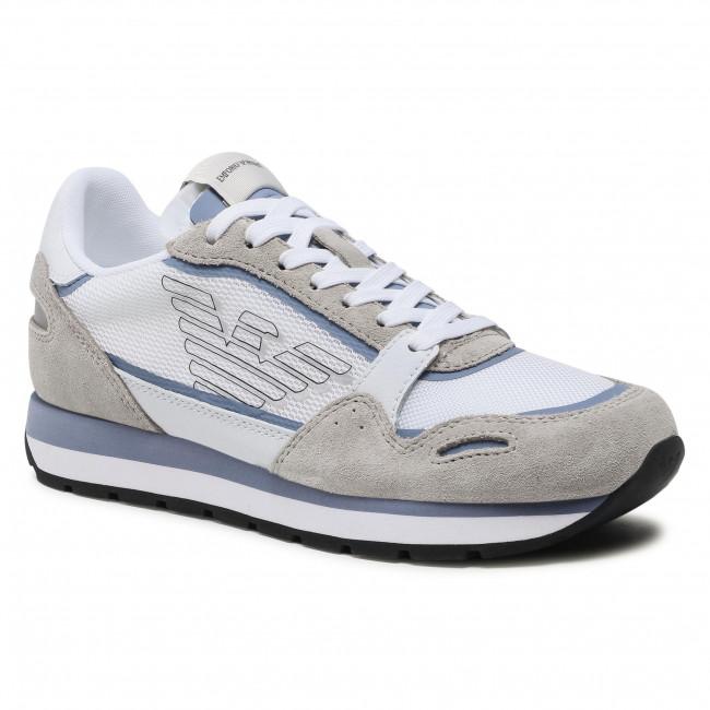 Sneakersy EMPORIO ARMANI - X3X058 XM687 R907 Plas/Ciel/Whi/White