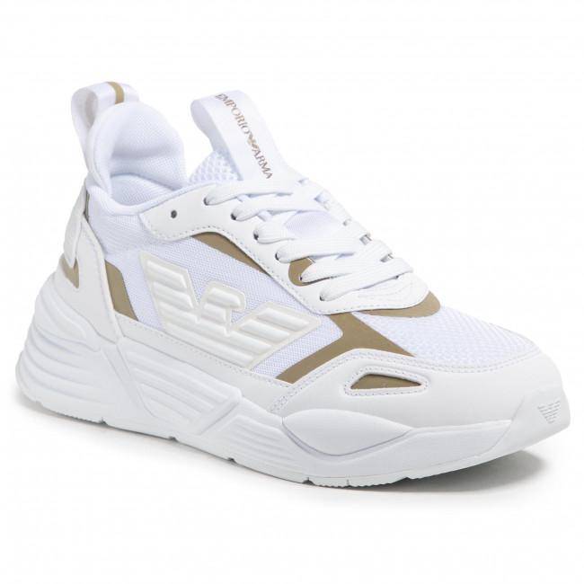 Sneakersy EMPORIO ARMANI - X3X126 XM521 T375 White/Light Gold
