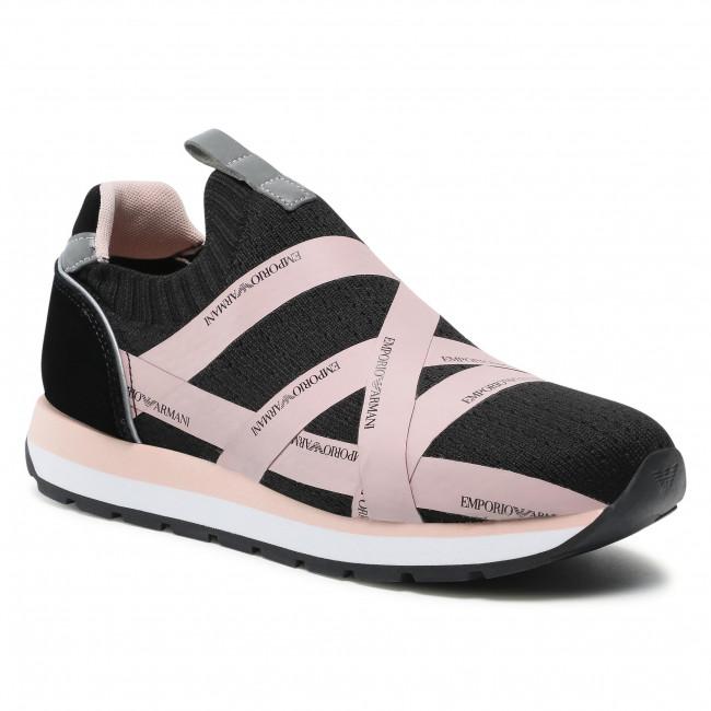 Sneakersy EMPORIO ARMANI - X3X128 XM691 R911 Black/Nuage