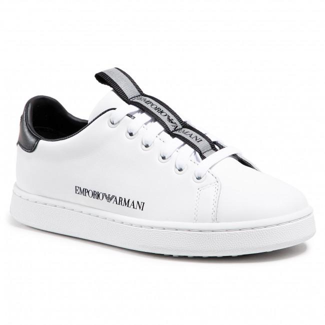 Sneakersy EMPORIO ARMANI - X3X132 XM789 D611 White/Black