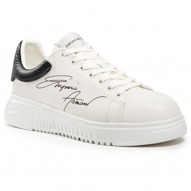 Sneakersy EMPORIO ARMANI - X4X264 XM670 N422 Off Wht/Black