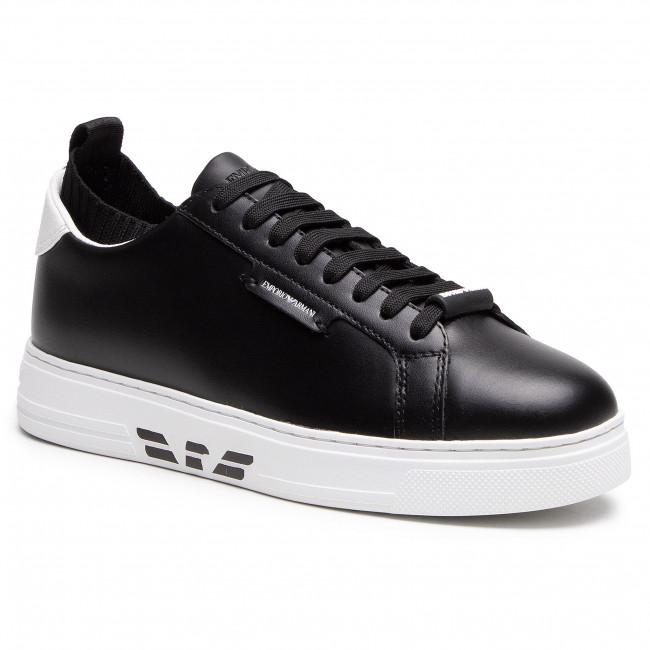 Sneakersy EMPORIO ARMANI - X4X308 XM709 N523 Blk/Blk/Op.Wht/Blk