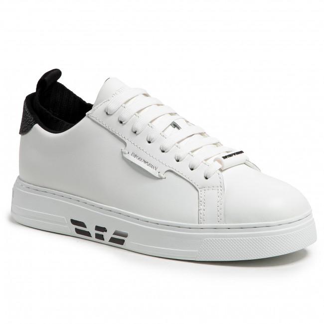 Sneakersy EMPORIO ARMANI - X4X308 XM709 N591 Op.Wht/Op.Wht/Blk/Bl