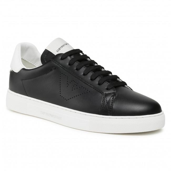 Sneakersy EMPORIO ARMANI - X4X316 XF527 N642 Black/Opt.White
