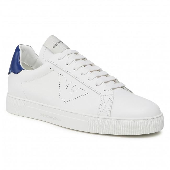 Sneakersy EMPORIO ARMANI - X4X316 XF527 Q070 Opt.Wht/Bluette