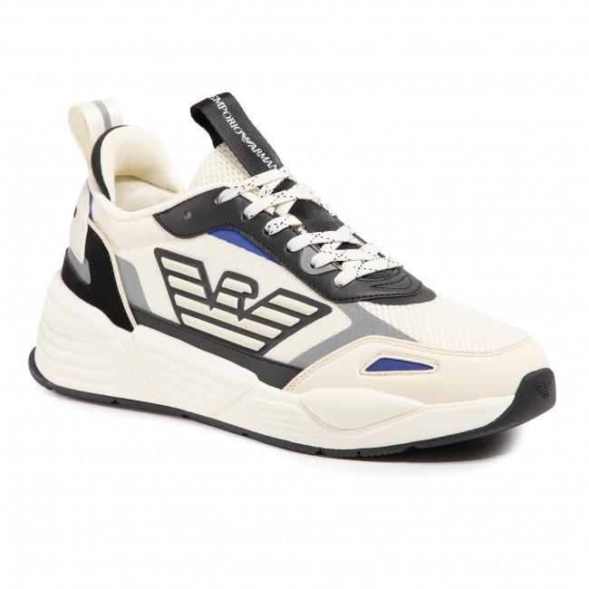 Sneakersy EMPORIO ARMANI - X4X325 XM521 Q076 Yvory/Blk/Silver/Mar