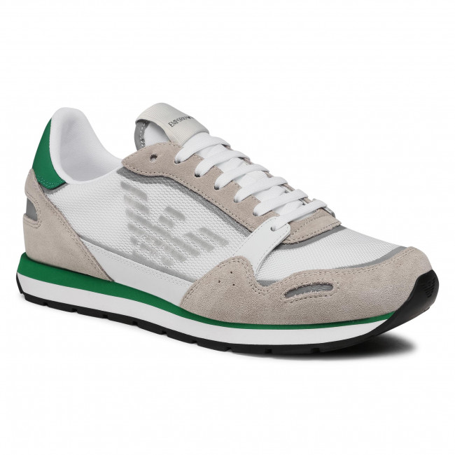 Sneakersy EMPORIO ARMANI - X4X537 XM678 N494  Plas/Slv/O.Wht/Ac.Gr