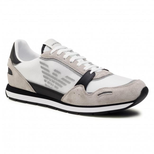 Sneakersy EMPORIO ARMANI - X4X537 XM678 N638 Plast/Blk/Op.Wht/Blk