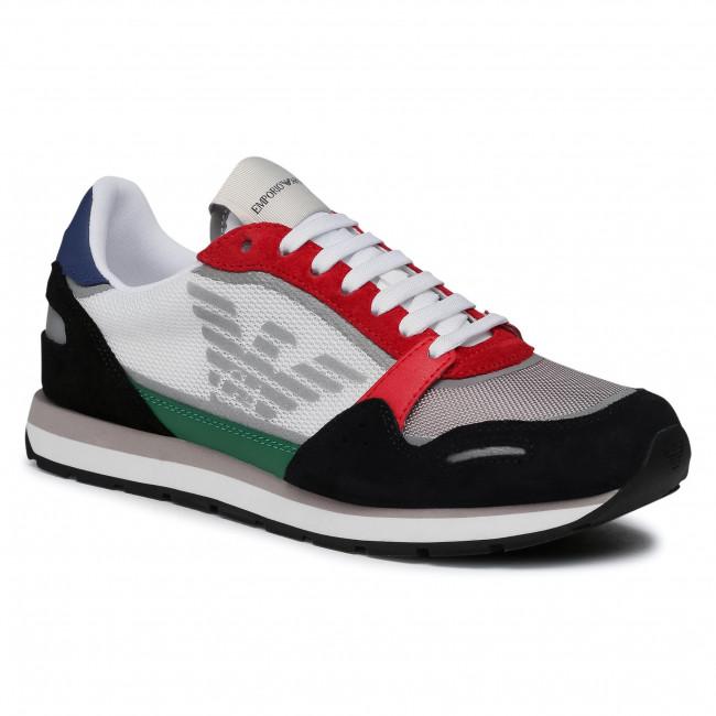 Sneakersy EMPORIO ARMANI - X4X537 XM678 N640 Navy/Grey/Red/O.Wht