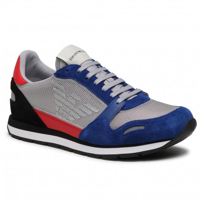 Sneakersy EMPORIO ARMANI - X4X537 XM678 N641 Bluet/Grey/Red/Blk