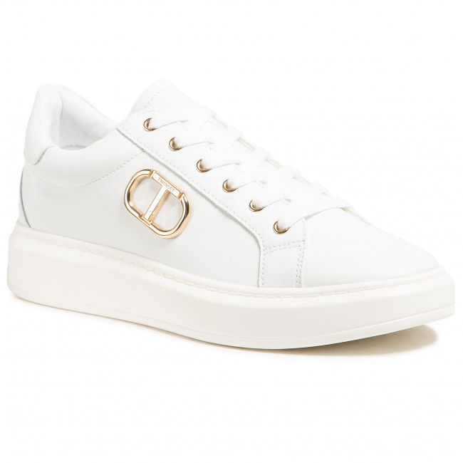 Sneakersy TWINSET - Sneaker 211TCT01A  Bianco Ottico 00001
