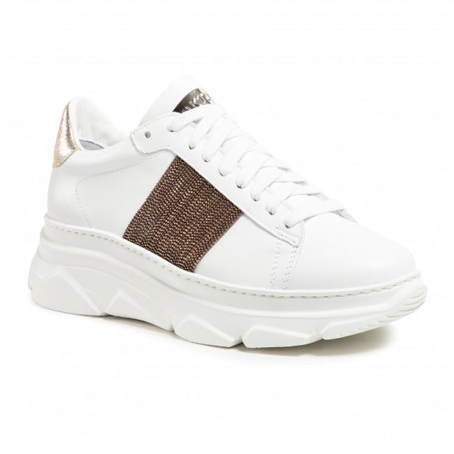 Sneakersy STOKTON - 803-D Vitello Bianco/Acc Bronzo