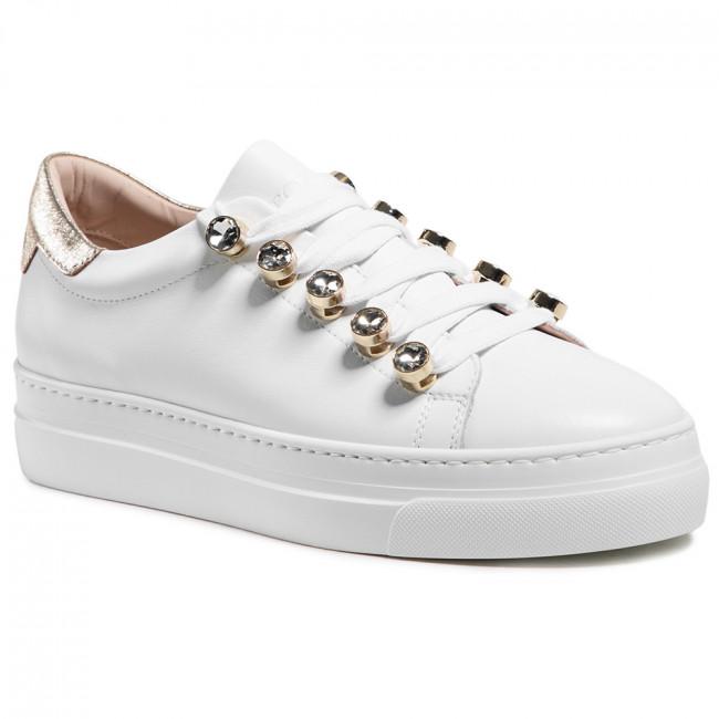 Sneakersy STOKTON - 861-D Vitello Bianco/Acc Oro