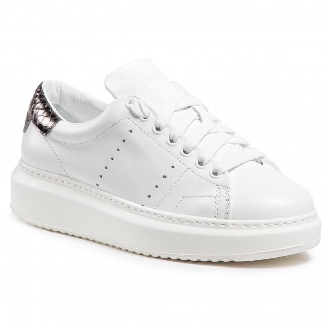 Sneakersy STOKTON - Bubka-D-Ss21 Vitello Bianco/Birman Acciaio
