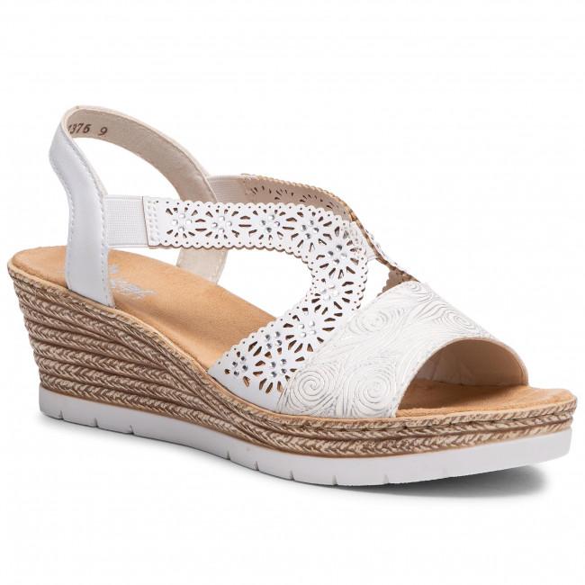 Sandále RIEKER - 61916-80 Weiss