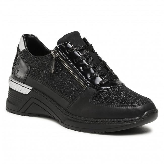 Sneakersy RIEKER - N4313-00 Schwarz