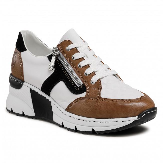 Sneakersy RIEKER - N6303-64 Weiss Kombi