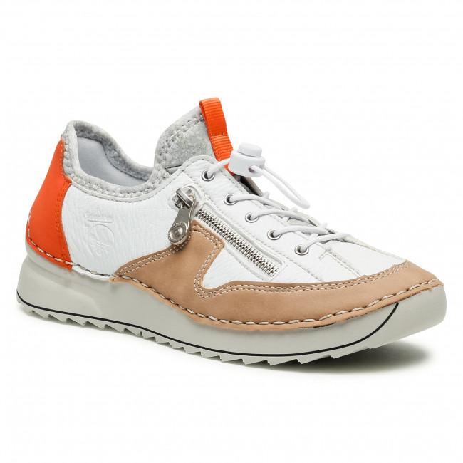 Sneakersy RIEKER - 51564-62 Weiss Kombi