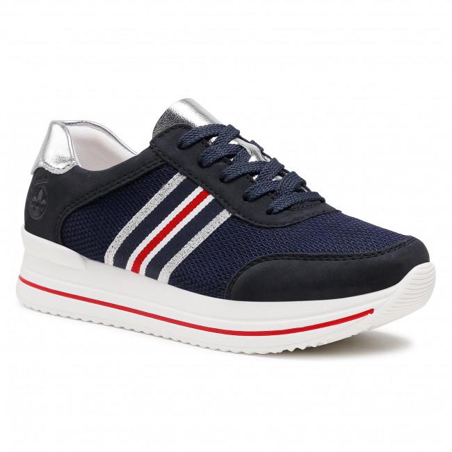 Sneakersy RIEKER - N7322-14 Blau