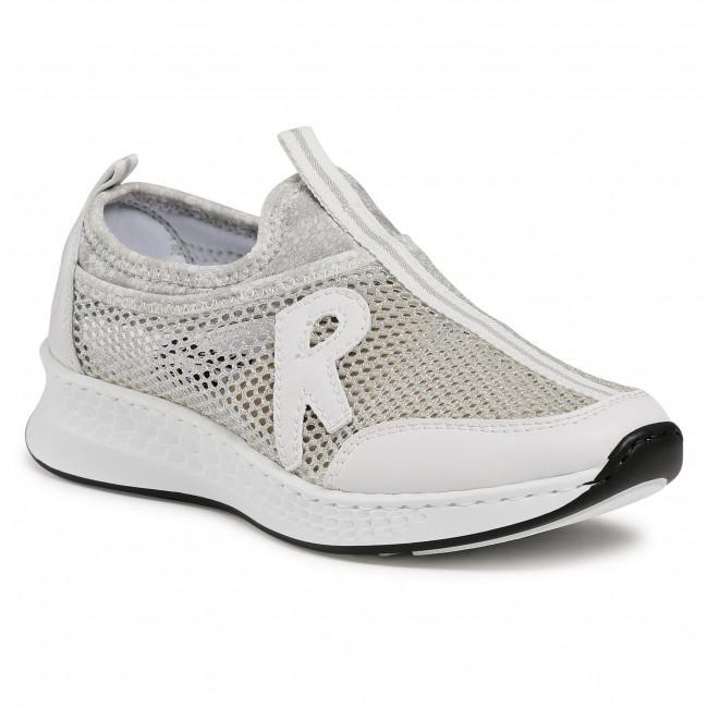 Sneakersy RIEKER - N5654-80 Weiss