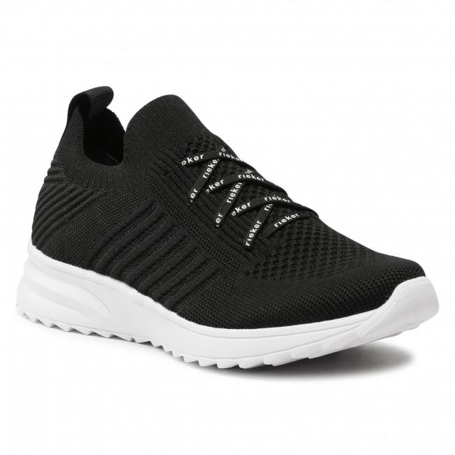 Sneakersy RIEKER - N6663-00 Schwarz