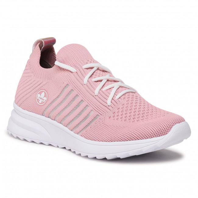 Sneakersy RIEKER - N6668-31 Rose