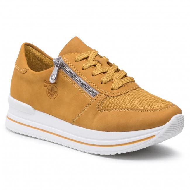 Sneakersy RIEKER - N7321-68 Gelb