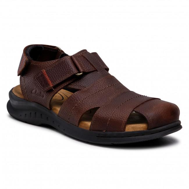 Sandále CLARKS - Hapsford Cove 261580137 Brown Tumb