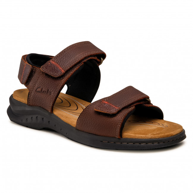 Sandále CLARKS - Hapsford Creek 261594797 Brown Tumb