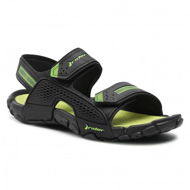 Sandále RIDER - Tender XII Ad 83065 Black/Black/Green 02235