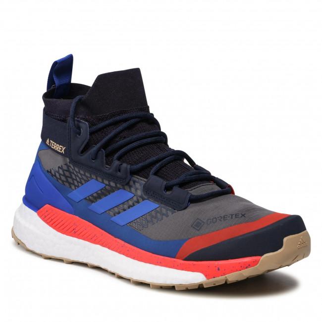 Topánky adidas - Terrex Free Hiker Gtx GORE-TEX FZ3368 Grey Six/Bold Blue /Legend Ink