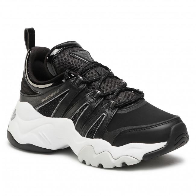Sneakersy SKECHERS - D'Lites 3.0-Intense Force 12959/BKW Black/White