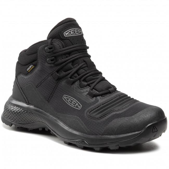 Trekingová obuv KEEN - Tempo Flex Mid Wp 1025293 Triple Black
