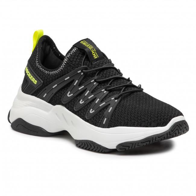 Sneakersy DOCKERS BY GERLI - 46AC202-700181 Black/Lt Green
