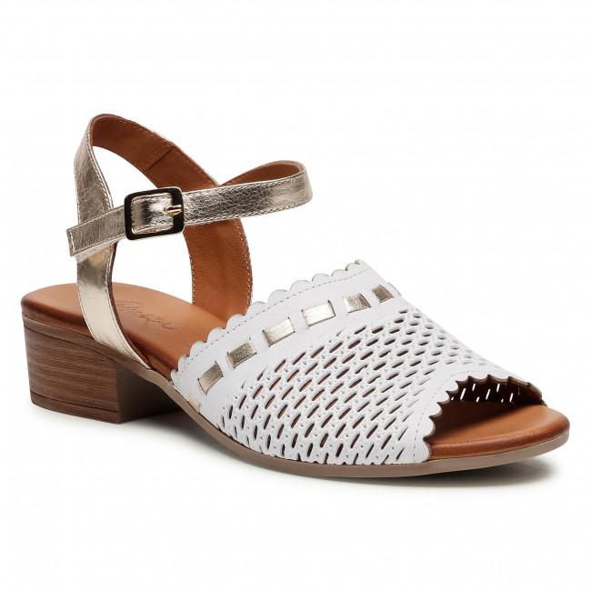 Sandále PIAZZA - 910004 Weiß/Gold 3