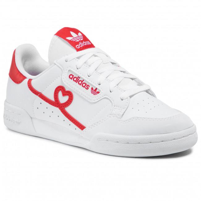 Topánky adidas - Continental 80 J FY2578 Ftwwht/Vivred/Ftwwht