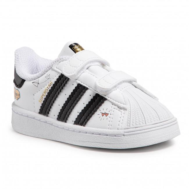 Topánky adidas - Superstar Cf I FZ0619 Ftwwht/Cblack/Goldmt