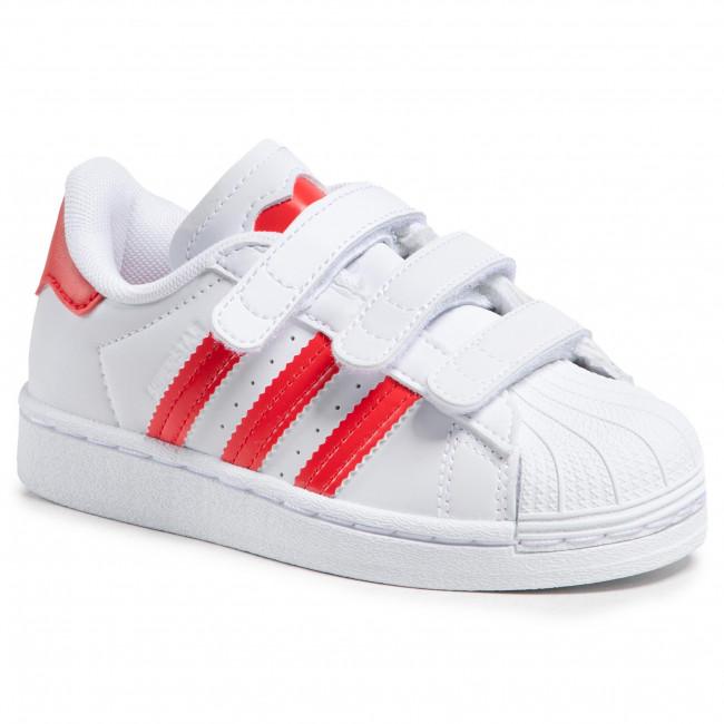 Topánky adidas - Superstar Cf C FZ0643 Ftwwht/Vivred/Ftwwht