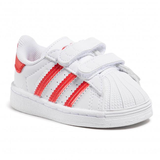 Topánky adidas - Superstar Cf I FZ0644  Ftwwht/Vivred/Ftwwht