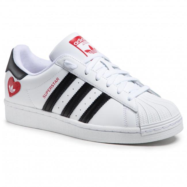 Topánky adidas - Superstar FZ1807  Ftwwht/Cblack/Scarle