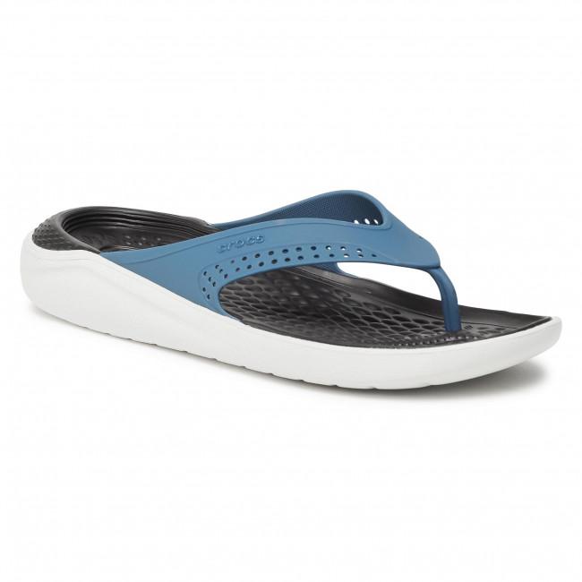 Žabky CROCS - Literide Flip 205182 Vivid Blue/Almost White