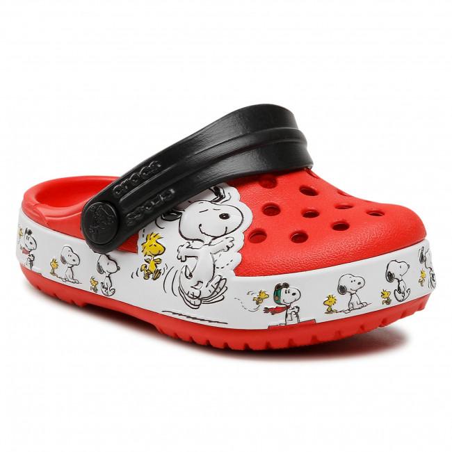 Šľapky CROCS - Fl Snoopy Woodstock Cg K 206176 Flame