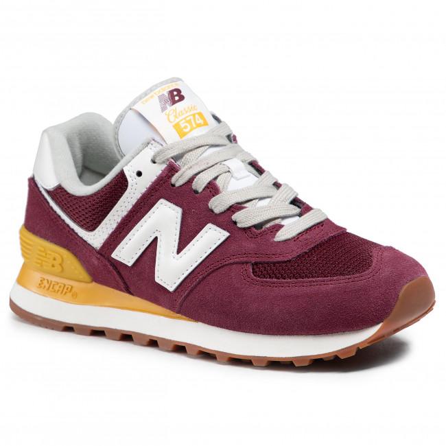 Sneakersy NEW BALANCE - WL574VN2 Bordová
