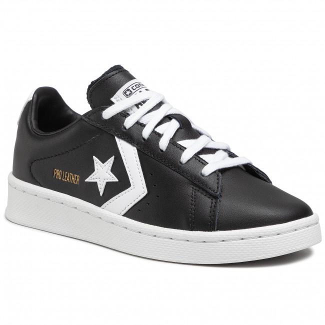 Sneakersy CONVERSE - Pro Leather Ox 167238C Black/White/White