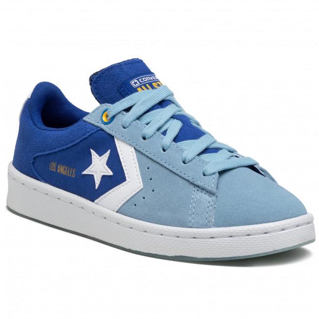 Sneakersy CONVERSE - Pro Leather Ox 170239C Rush Blue/Sea Salt Blue/White