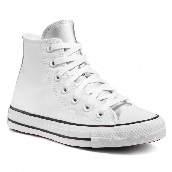 Tramky CONVERSE - Ctas Hi 570287C White/Pure White/Pure Silver