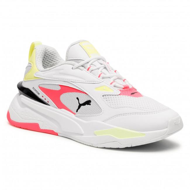 Sneakersy PUMA - Rs-Fast Pop Wn's PumaWhite/Ign Pink/Soft F Ylw